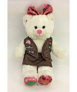 Build A Bear Girl Scouts White Vest  Skort Bow Pink Plush Stuffed Animal... - $38.59