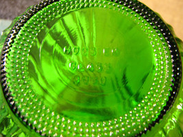 Hoosier glass vase tinted green swirl vintage 4090 8.5 bottom thumb200