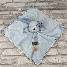 Carters Blue Lovey Puppy Dog Spotted Eye Baby Security Blanket Rattle Pa... - $19.28
