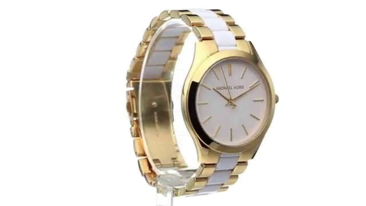 a855a98f5776 Michael Kors MK4295 Slim Runway Two Tone Wrist Watch for Women