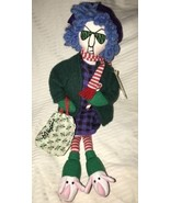 Vintage HALLMARK J Wagner MAXINE Shoebox Plush Doll CHRISTMAS Holiday NW... - $17.81