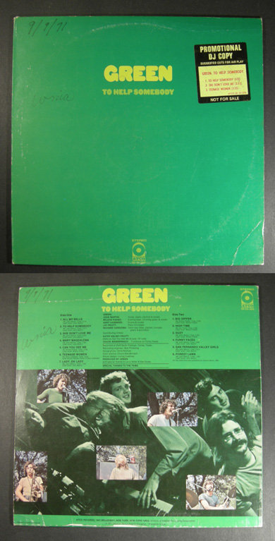 southern rock GREEN To Help Somebody 1971 WL PROMO LP