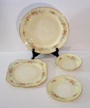 Homer Laughlin Nautilus FERNDALE 4 Pc. Set Dinner Dessert Plate Bread Sa... - $24.99