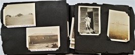 antique MILITARY SOLDIER BARRACKS and PERSONAL PHOTOGRAPH ALBUM 143 phot... - $124.95