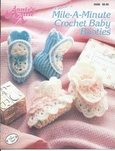 Mile-A-Minute Baby Booties Crochet Pattern~Annie's Attic~Dated 1991 - $9.99