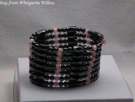 """Pink Tiger-Eye Magnetic Hematite Lariat (40"""") - $18.00"""