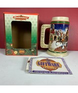"NEW 1998 Budweiser Clydesdales Holiday Beer Stein ""GRANT'S FARM HOLIDAY""... - $19.79"