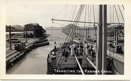 Transiting The Panama Canal Post Card - $5.00