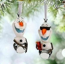 "Disney's FROZEN "" Olaf "" Winter & Summer Set of 2 Bells Christmas Orname... - $19.79"