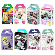 8 Packs 80 Instant Photos FujiFilm Instax Mini Film Polaroid Picture Value Set