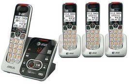 AT&T CRL32102 DECT 6.0 4 Cordless Phones w/Answering System & Talking Caller ID - $162.80