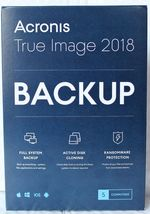 Acronis True Image 2018- 5 Computer Backup & Recovery Software [CD-ROM] ... - $61.56