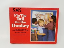 Vintage Western Pin the Tail on the Donkey Party Game - 1981 COMPLETE - ₨698.56 INR