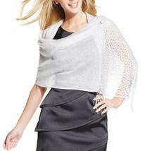 New STYLE CO Crochet Medallions Silver Lurex Classy Wrap Shawl Womens Fr... - €8,26 EUR
