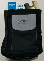 Evolve Black Yoga Mat Bag w/ Adjustable Shoulder Strap, Pocket, & Full Zip - $14.99