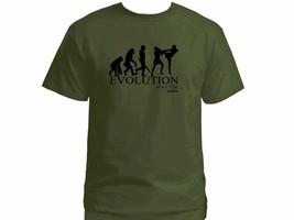 Muay Thai boxing evolution martial arts MMA 100% cotton olive green t-shirt - €16,65 EUR