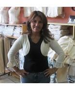 White Bolero jacket, ecological pyma cotton   - $39.00