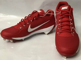Nike Air Clipper Max Air Flywire Cleats Shoes size 12 Red White 880261-616 - $25.23