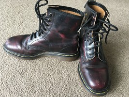 Dr. Marten's Boots 1460 Size 7 Pascal Cherry Red Antique Temperley 8 Eye England - $78.20