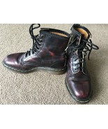 Dr. Marten's Boots 1460 Size 7 Pascal CHERRY RED ANTIQUE TEMPERLEY 8 eye... - $78.20