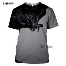 Outdoor Sport Mountain Climbing Hiking 3D Print Men's T-shirt Women Summer T shi - $27.55