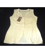 Sleeveless white vest , ecological Pyma Cotton - $35.10