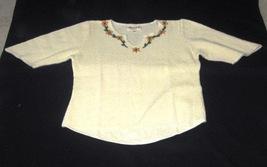 White embroidered longsleeve shirt, ecological pyma cotton   - $41.70
