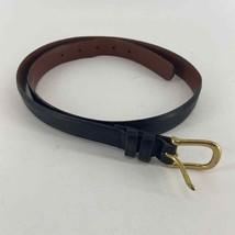 COACH black leather gold hardware belt 36 - $32.55