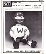 CROCHET FOOTBALL PLAYER INSTRUCTION SHEET - $0.00