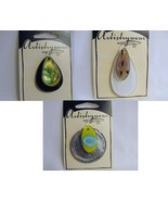 Destash - Three Glass Foil Pendants - $5.00