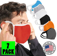 Two Tone Reusable Face Cover Stretch Cloth Protection Mask Handmade USA Lot of 7