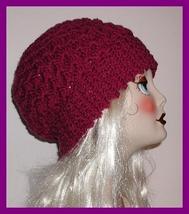 Dark Raspberry Winter Hat originalsbycindy Very Warm Large Ladies - $34.00