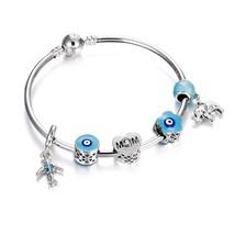 New Crown Heart Shape Pendant Bracelet Sliver Charm Snake Chain For Women Jewell - $14.59