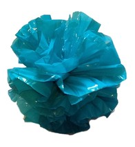 "25 Car Limo wedding Decoration Plastic Pom Poms Flower 4""  - turquoise - $4.94"