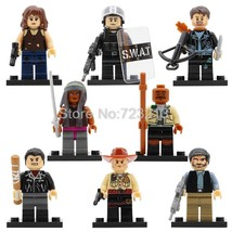 8pcs Walking Dead Minifigures Rick Grimes Negan Daryl Dixon Morgan Lego Blocks - $9.99