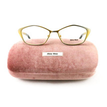 Miu Miu VMU 53L LAF Silver/Gold 52 15 135 Plastic New Authentic Eyeglasses - $65.55