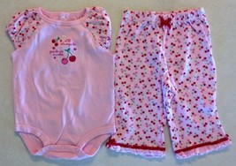 "Girl's Sz 6 M Months 2 Pc Outfit ""I'll Always Be Grandma's Sweetie"" Top ... - $10.00"