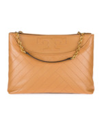 NEW Tory Burch Alexa Leather Center Zip Tote, Tan, MSRP$385, #103 - $249.99
