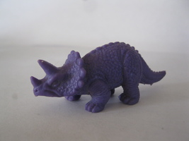 "(BX-1) Vintage 2.5"" long rubber Dinosaur - purple - $2.00"