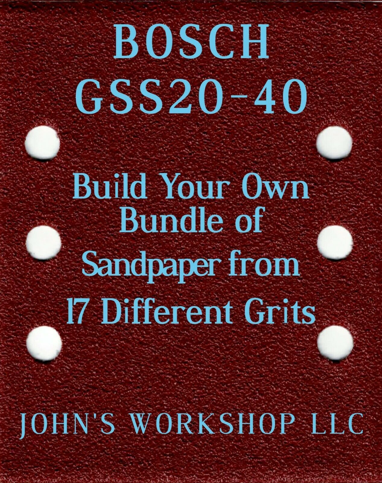 Primary image for Build Your Own Bundle BOSCH GSS20-40 1/4 Sheet No-Slip Sandpaper 17 Grits