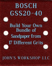Build Your Own Bundle BOSCH GSS20-40 1/4 Sheet No-Slip Sandpaper 17 Grits - $0.99