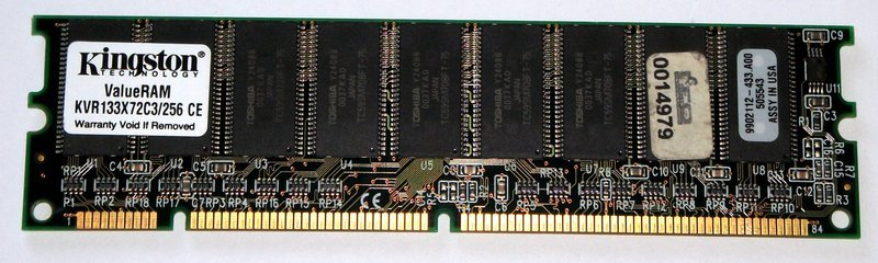Primary image for Kingston KVR133X72C3/256 256MB PC133 133MHz ECC DIMM CL3 Memory