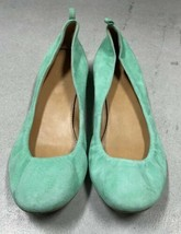 J.Crew Factory Mint Green Anya Suede Leather Rounded Ballet Flat Size 7 - $24.75