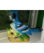 Vintage Napco Ware  Blue Jay Bird Planter ln Good Pre-owned Condition. #... - $14.85