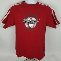 Starter Mens T-Shirt Sz S Sm England Football St James Tournament Red Tee  - $12.12