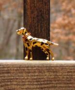 Trifari TM 1996 Limited Edition Dalmation Dalmatian Dog Brooch w Red Rhi... - $160.00