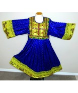 Party Wedding Dress Moroccan Afghan Embroidered Mirrored Purple Gold S-M - $108.90