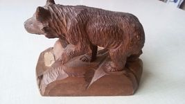 Antique BLACK FOREST fine CARVED Bear Brienz German Hunting Deco cabin ashtray image 3