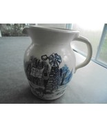 "CMP Pottery by Martha Painted Stone Pitcher 8"" Tall Signed - $20.79"