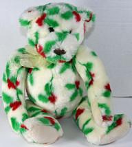 "Gund LARGE 19"" HOLLY BEARIES CHRISTMAS TEDDY BEAR Stuffed Plush SOFT TOY... - $20.78"